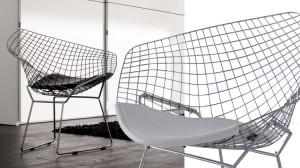 Polufotelja Diamond, dizajn Harry Bertoia | proizvođač ALIVAR